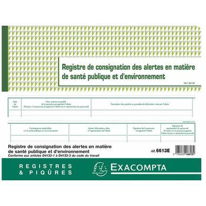 """EXACOMPTA Piqûre """"Registre de consignation"""", 240 x 320 mm"""