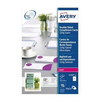 AVERY Quick & Clean Korrespondenz-Karten