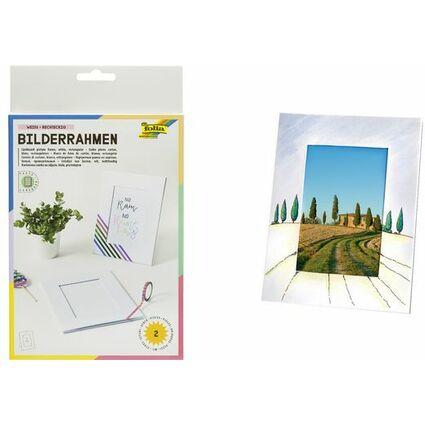 Folia Bilderrahmen Set Aus Pappe 10 X 15 Cm Weiss 2333 Bei Www