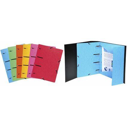 EXACOMPTA Sammelmappe, aus Karton, 375 g/qm, farbig sortiert