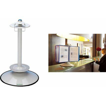 tarifold t-display Drehständer, DIN A4, lichtgrau, für 40-50