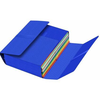 FAST Dokumentenmappe JUMBO, mit Klettverschluss, blau