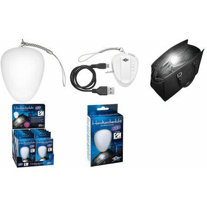 WEDO Aufladbares LED-Handtaschenlicht 2 LEDs /& IR-Sensor weiß