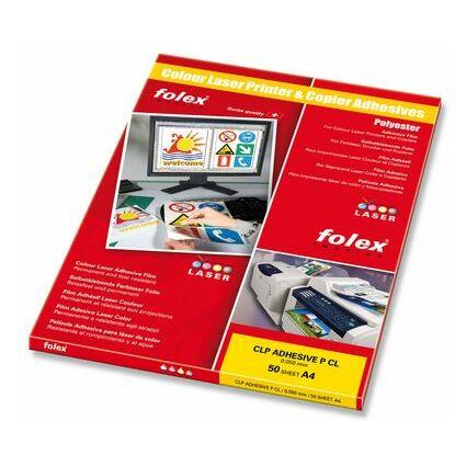 FOLEX Color-Laserfolie, DIN A4, selbstklebend, transparent
