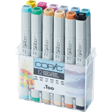 COPIC profi Marker, 12er set Pastellfarben