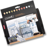 COPIC profi Marker, 24er wallet mit 12 Architekturfarben