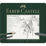 FABER-CASTELL pitt GRAPHITE set medium, 19-teiliges Etui