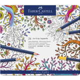FABER-CASTELL buntstifte ART grip AQUARELLE, 24er Metalletui