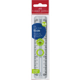 FABER-CASTELL lineal GRIP, 150 mm, transparent / grau