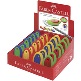 FABER-CASTELL kunststoff-radierer OVAL, farbig sortiert
