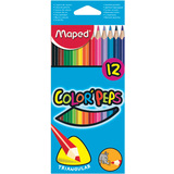 Maped dreikant-buntstift COLOR'PEPS, 12er Kartonetui