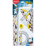 Maped geometrie-set RABBIDS, 4-teilig, transparent