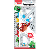 Maped geometrie-set ANGRY BIRDS, 4-teilig, transparent