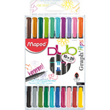 "Maped fineliner Graph""Peps DUO, 10er etui = 20 Farben"