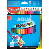 Maped aquarellstift COLOR'PEPS AQUA, 18er Kartonetui