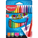 Maped wachsmalststift COLOR'PEPS PlastiClean, 12er Etui
