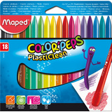 Maped wachsmalststift COLOR'PEPS PlastiClean, 18er Etui
