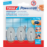 tesa powerstrips Haken small Oval, chrom