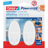 tesa powerstrips Haken large Oval, weiss