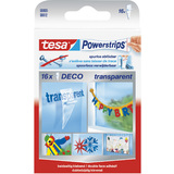 tesa powerstrips DECO, transparent, Haltekraft: max. 0,2 kg