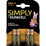"DURACELL alkaline Batterie ""simply"" micro AAA, 4er Blister"