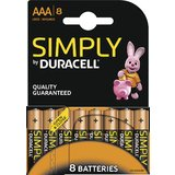 "DURACELL alkaline Batterie ""simply"" micro AAA, 8er Blister"