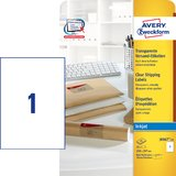 AVERY zweckform Transparente Adress-Etiketten, 210 x 297 mm