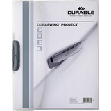 DURABLE klemm-mappe DURASWING PROJECT, 3-teilig, transparent