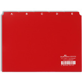 DURABLE karteiregister A - Z, PP, a5 quer, rot, 25-teilig
