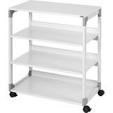 DURABLE Bürowagen system Multi trolley 88, 4 Böden, grau