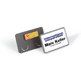 DURABLE namensschild Clip-Card, mit Magnet, 75 x 40 mm