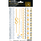 "HERMA flash Tattoo ""Love"", gold und Silber"