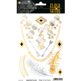 "HERMA flash Tattoo ""Diamonds"", gold und Silber"