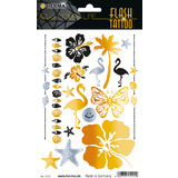 "HERMA flash Tattoo ""Beach"", gold und Silber"