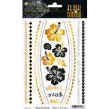 "HERMA flash Tattoo ""Flower"", gold und Silber"