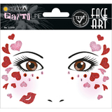 "HERMA face Art sticker Gesichter ""Love"""