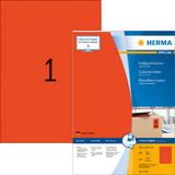 HERMA universal-etiketten SPECIAL, 210 x 297 mm, rot