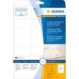 HERMA folien-etiketten SPECIAL, 63,5 x 38,1 mm, transparent