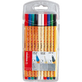 STABILO fineliner point 88 + point 88 erasable, 10er Etui