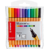 STABILO fineliner point 88 Mini, 12er Kunststoff-Etui