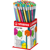 STABILO bleistift Pencil 160 mit Radierer, 72er Display