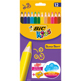 BIC kids Dreikant-Buntstifte SuperSoft, 12er Kartonetui