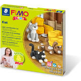 "FIMO kids Modellier-Set form & play ""Cat"", level 2"