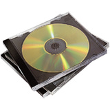Fellowes Doppel-CD-Leerhülle, jewel Case,transparent/schwarz
