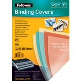 Fellowes Deckblatt, din A4, PVC, rot-transparent, 0,20 mm