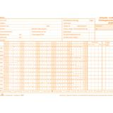 Avery Zweckform 507 Formularbuch Lohnabrechnung Gehalt Lohn weiß A4 2 x 50 Blatt