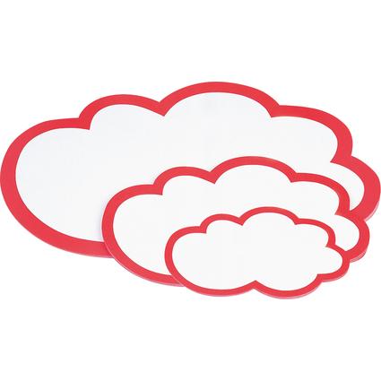 magnetoplan Moderationskarten Wolken, 620 x 370 mm