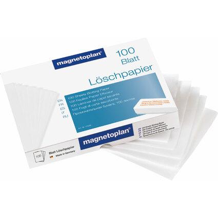 magnetoplan Löschpapier für Tafellöscher grau