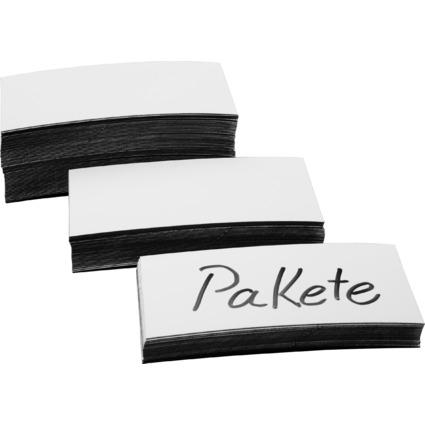magnetoplan Magnet-Etiketten, weiß, 20 x 100 x 0,6 mm