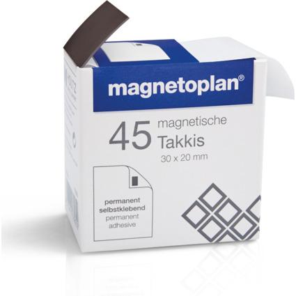 magnetoplan Takkis im Spender, selbstklebend, schwarz